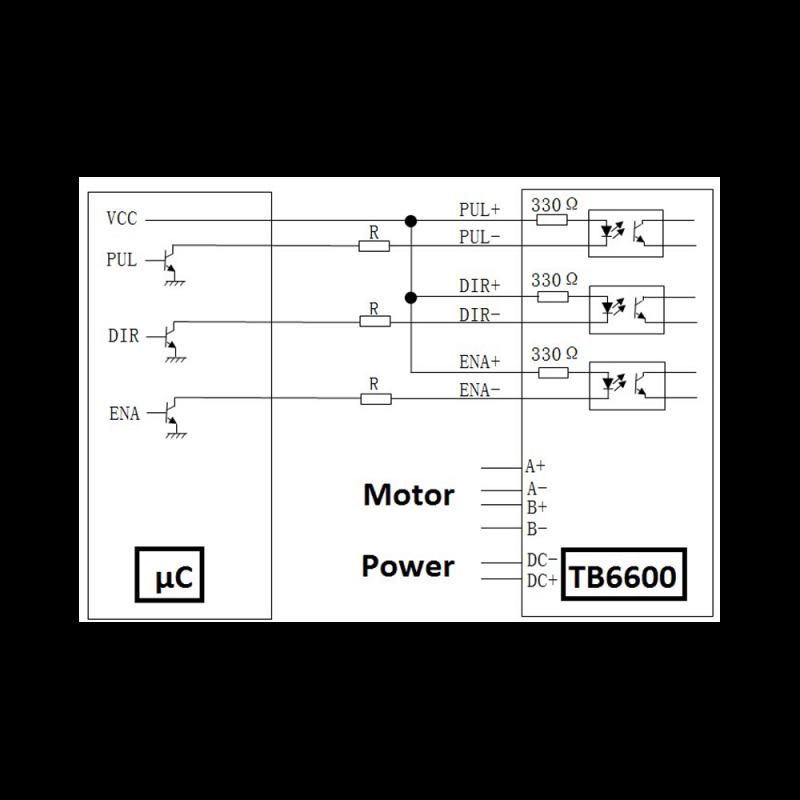 Pilote de moteur pas à pas compatible TB6600