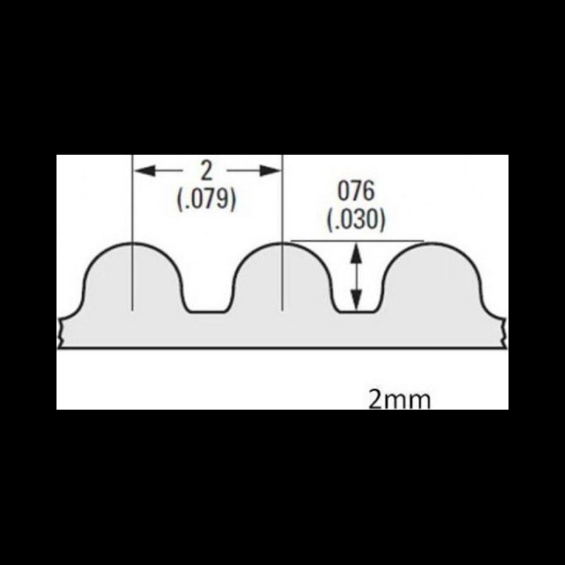 Courroie GT2 largeur 6mm au mètre