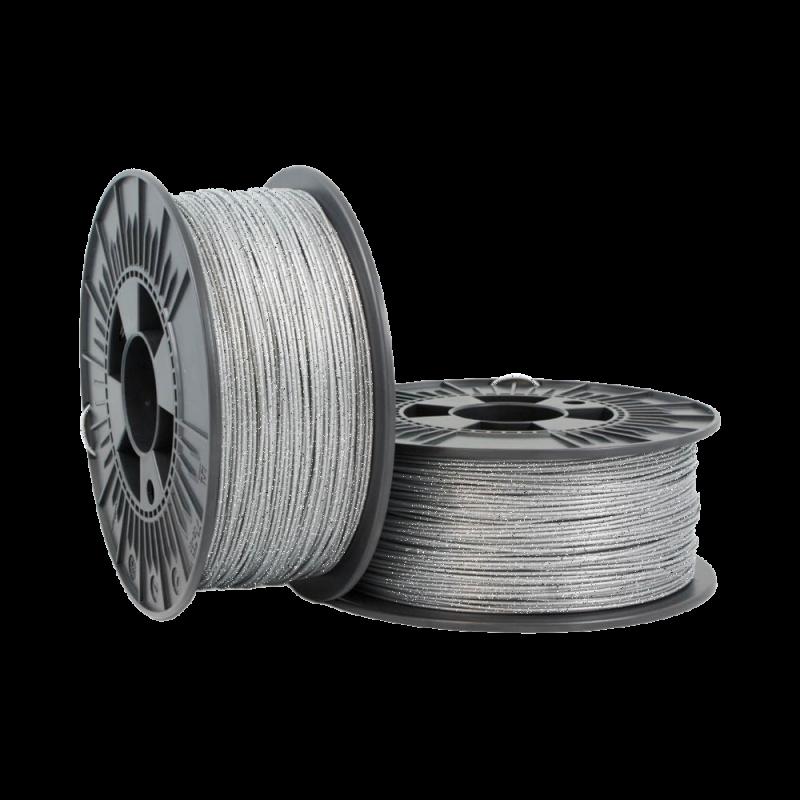 PLA Glitter 3mm Metallic Silver